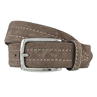 OTTO KERN belts men's belts leather belt suede mud 3672