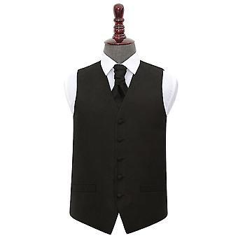 Paisley nero sposa gilet & Cravat Set