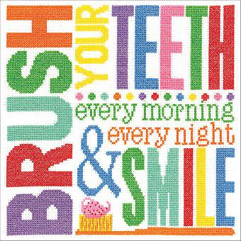 Brush Your Teeth Counted Cross Stitch Kit-10