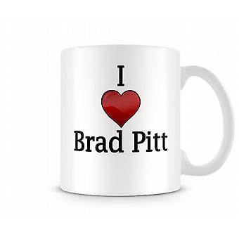 Amo la tazza stampata Brad Pitt