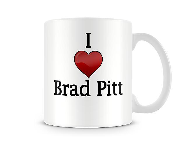 Brad Pitt imprimé J'aime la tasse