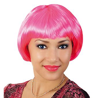 Party wig of cats pink Bob pony short