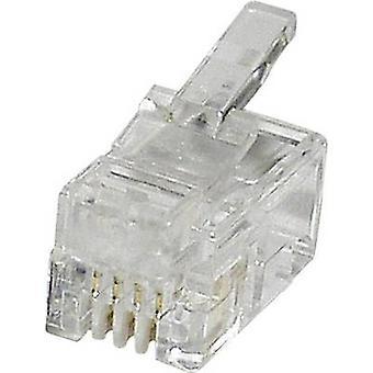 Modular plug Plug, straight MPL44R Clear econ connect MPL44R 1 pc(s)