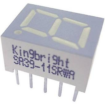 Kingbright Seven-segment display Red 10 mm 2 V No. of digits: 1 SC39-11EWA