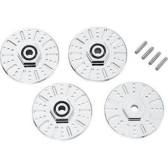 1:10 Imitation brake disc catch 12 mm hexagon 5 mm extension Reely Chrome 2 pc(s)