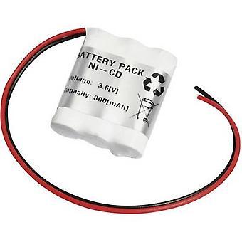 Emergency light battery Cable 3.6 V 800 mAh Emmer