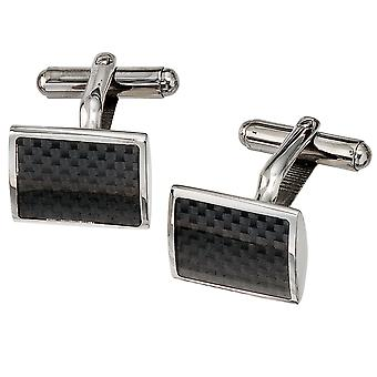 Cuff links stainless steel stainless steel with carbon