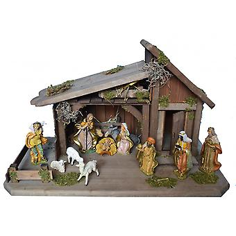 Crib CUDDLE time wooden Manger Nativity scene Christmas Nativity stable