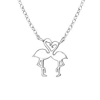 Flamingo Lover - 925 Sterling Silver Plain Necklaces - W32257X