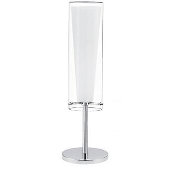Eglo Pinto moderne klart og Frost Glass nattbord lampe