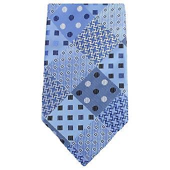 Knightsbridge Neckwear Multi Pattern Tie - Light Blue