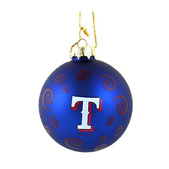 Texas Rangers MLB Swirl Ornament