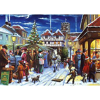 Falcon Deluxe Christmas Market Jigsaw Puzzle (500 Pieces)