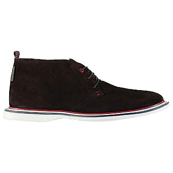 Ben Sherman Mens Modern Chukka Boots Shoes Lace Up Suede Slight Heel