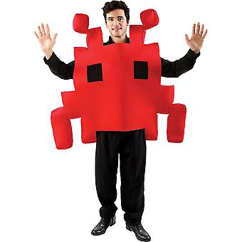 Adult Red Space Arcade Game Fancy Dress Costume