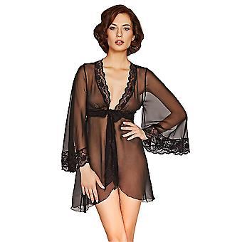 Mio Lounge Venice Black Chiffon Robe 131517B
