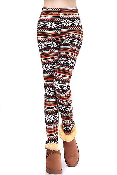 Waooh - Fashion - Leggings Winter - Pattern snowflakes