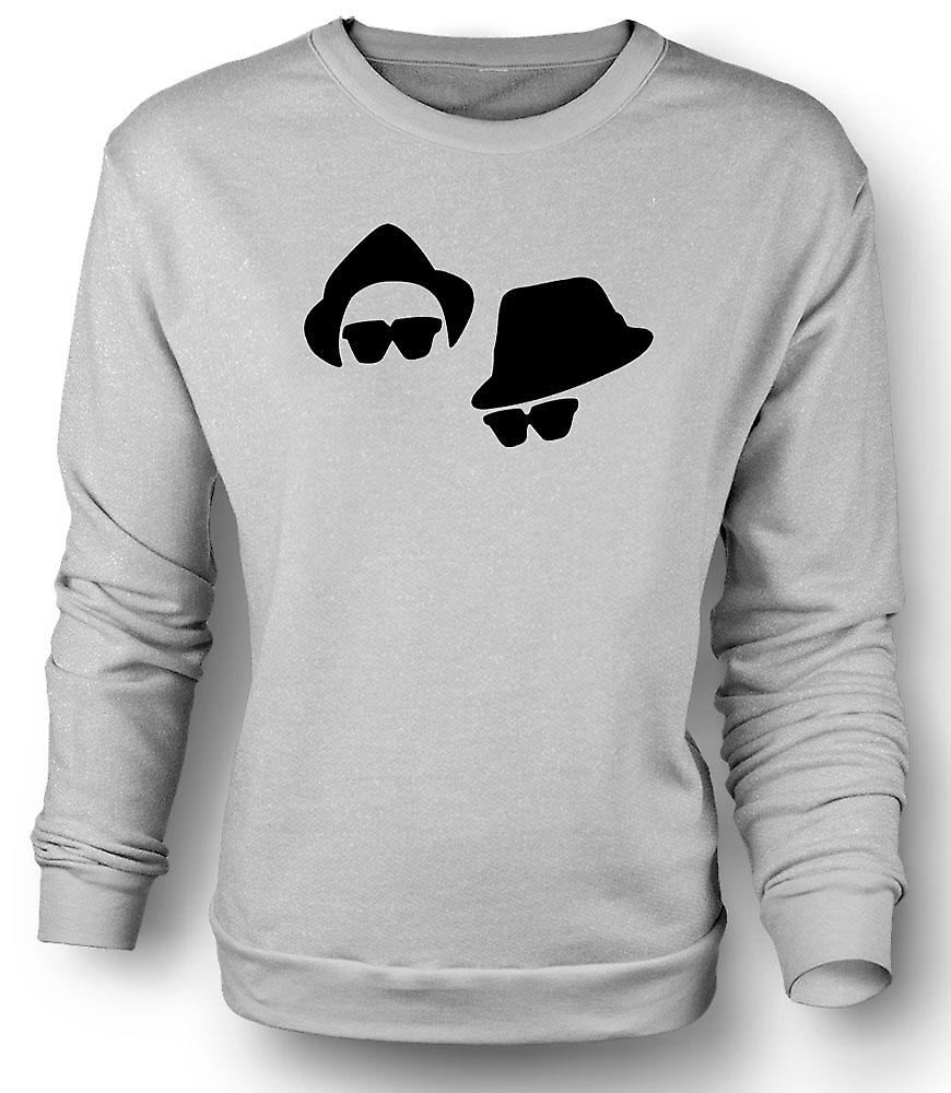 Mens Sweatshirt Blues Brothers ansikter