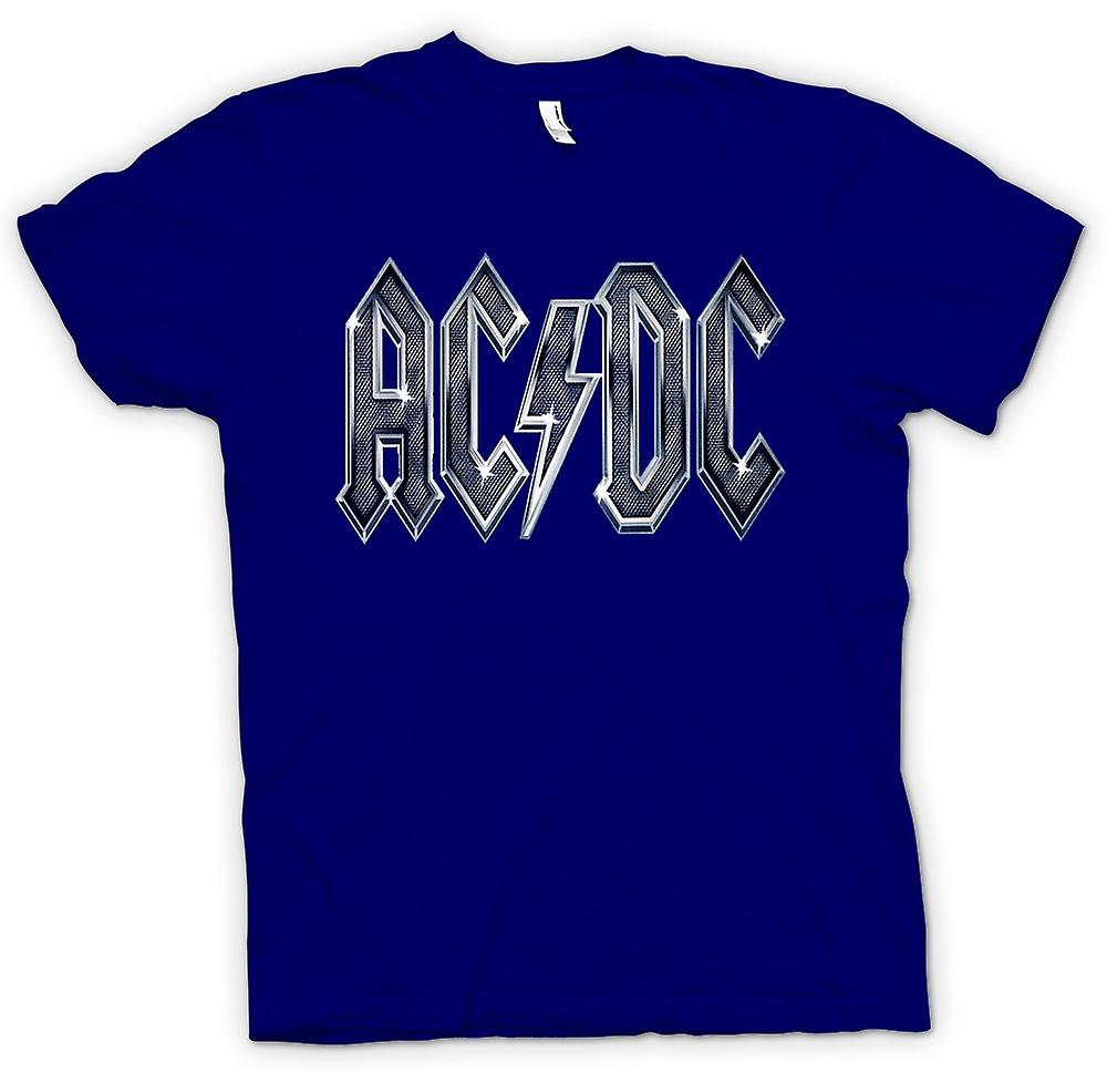 Mens T-shirt - AC/DC White Logo - Rock