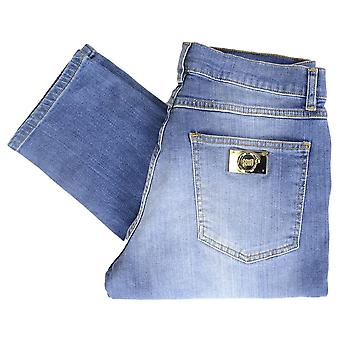 Cavalli Class Trouble Stone Wash Slim Fit Stretch Indigo Blue Jeans