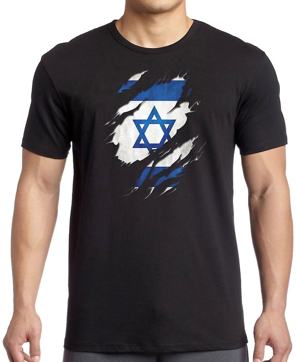 Israeli Grunge Flag Ripped Effect Kids T Shirt