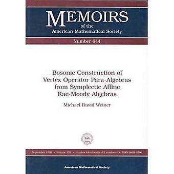 Bosonic Construction of Vertex Operator Para-Algebras from Symplectic Affine Kac-Moody Algebras