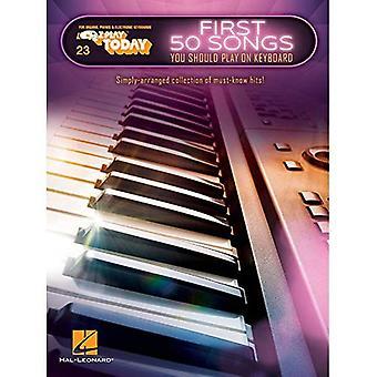 Första 50 låtar du bör spela på tangentbordet: E-Z spela idag volym 23