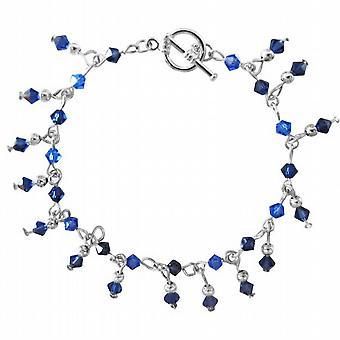 Sapphire Crystals Bracelet Hand Made