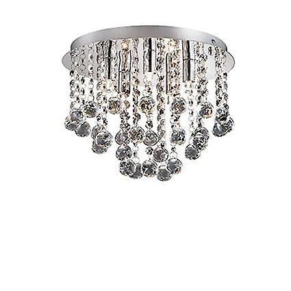 Ideal Lux - Bijoux Large Chrome & Crystal Semi-Flush Fitting IDL089485