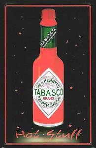 Tabasco Sauce Bottle embossed metal sign