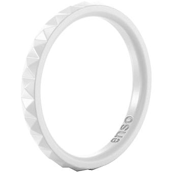 Enso Rings Pyramid Stackables Series Silicone Ring - White