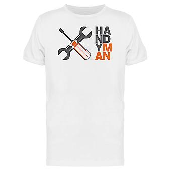 Handyman Tools Graphic Tee Men's -Image by Shutterstock