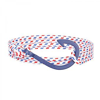 Holler Kirby  Blue Sandblasted Hook / White, Blue and Red Paracord Bracelet HLB-03BUS-P01