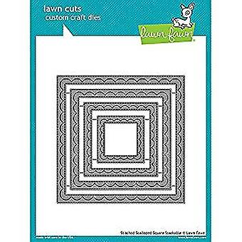 Lawn Fawn Outside In Stiched Scalloped Square Stackables Dies (LF1506)