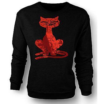 Womens Sweatshirt Witches Cat - Halloween - Funny