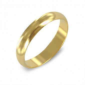 Guldpläterad ring allians 3mm