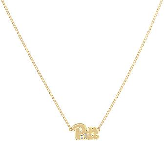 University Of Pittsburgh - Pitt Diamond During Necklace In 14K Yellow Gold