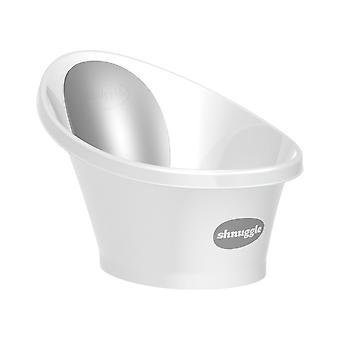 Shnuggle Bath-vit med grå ryggstöd