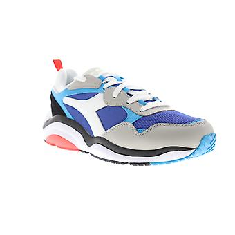 Diadora Whizz Run Herren Blau Mesh & synthetische Low Top Lace Up Sneakers Schuhe