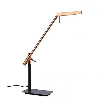 Mantra Phuket Table Lamp 1 Light 7W LED 3000K, 600lm, Cuivre/Antracite, Garantie 3ans