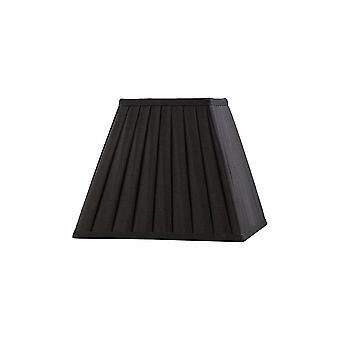 Diyas Leela Square Pleated Fabric Shade Black 138/250mm X 206mm