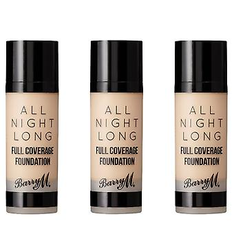 Barry M 3 X Barry M All Night Long Full Coverage Foundation - Cashew