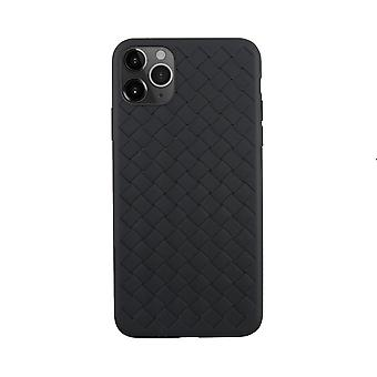 iPhone 11 Pro Max  Case Weave Texture Back Shell Black