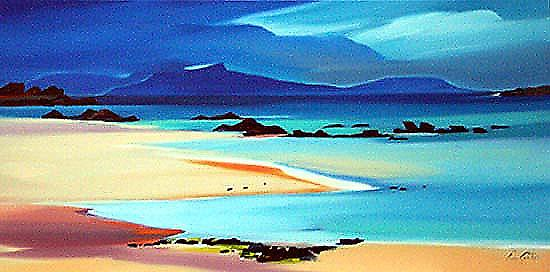 Pam Carter print - Eigg from Kilmory