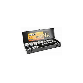Topex 21dlg Socket set 3/4