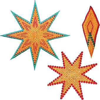 GO! Fabric Cutting Dies-Star 8 Point By Sarah Vedeler 55315