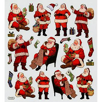 Multicolored Stickers-Traditional Santa SK129MC-1514