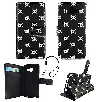 Mobile phone case pouch for mobile Samsung Galaxy A3 2016 polka dot skull