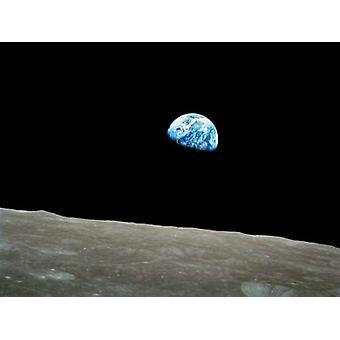 Earthrise Apollo 8 desember 24 1968 Poster trykk av NASA