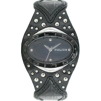 Police ladies watch wristwatch leather analog PL. 11600MST/02